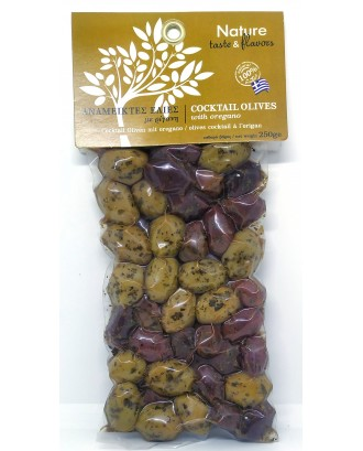 Cocktail olives with Oregano 250gr