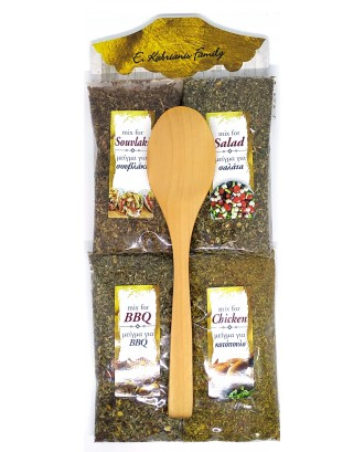 4 sackets of spices with spoon Code 001F