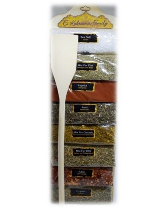 8 sackets of herbs with spatula code 003K