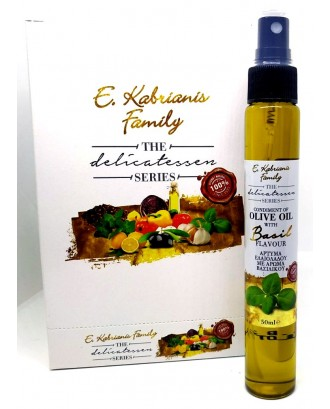 Flavoured olive oil with Basil in spray 50 ml